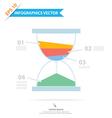 Sandclock Infographics vector image vector image