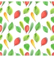 seamless pattern of red and green leaves vector image vector image