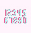 set numbers with 3d isometric effect vector image vector image