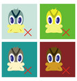 set of flat icon in flat style duck vector image vector image