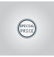 Special Price Icon Badge Label or Sticker vector image vector image
