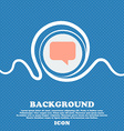 speech bubble Chat think sign icon Blue and white vector image
