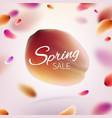 stock hello hi spring sale vector image vector image