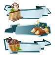 Sweets paper banners vector image vector image