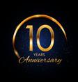 template logo 10 year anniversary