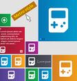 Tetris icon sign Metro style buttons Modern vector image