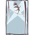 tightrope walker spotlight vector image