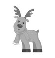 toy deer single icon in monochrome style for vector image vector image
