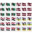 Turkmenistan Latvia Egypt Central African Republic vector image