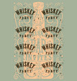 typographic retro grunge whiskey party poster vector image
