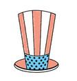 usa hat to patritism celebration design vector image