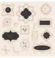 Vintage Decorations Design Elements vector image vector image