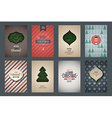 Vintage poster set Merry Christmas vector image vector image