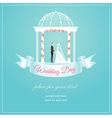 Weding arch ribbon vector image vector image