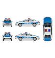white police car mockup vector image vector image