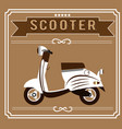 white scooter fashionable barber vector image vector image