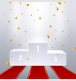 winner pedestal champion ceremony podium first vector image vector image