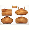 wooden board old wood set vector image vector image