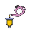 canister pouring paint renovation maintenance car vector image