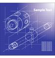 Technical Blueprint vector image