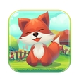 Icon Feed the fox GUI match 3 vector image