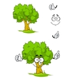 Cartoon tree with attention sign vector image