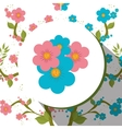Floral and flowers decorative design vector image