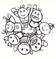 happy children of different races vector image