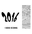 2016 Year Icon vector image vector image