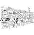 adsense and the surfer text word cloud concept vector image vector image