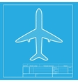 Airplane sign White section of icon vector image vector image