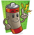 battery cartoon character vector image vector image