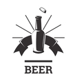 Beer insignia badge vector image vector image