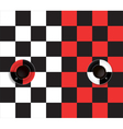 black and red and white and black coffee cup vector image vector image