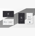 black and white business card design template vector image vector image