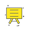 board school icon design vector image