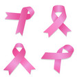 breast cancer icon set isometric style vector image