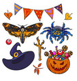 Cartoon halloween set vector image