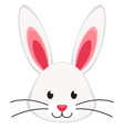 cartoon rabbit bunny face icon poster vector image
