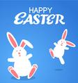 cartoon rabbit easter vector image