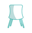 chair desk isolated iicon vector image vector image