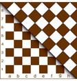 chessboard half vector image vector image