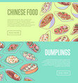 chinese food flyers with asian dishes vector image vector image