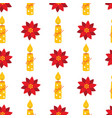 christmas holiday seamless pattern with candles vector image vector image