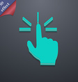 Click here hand icon symbol 3D style Trendy modern vector image