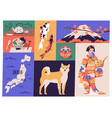 collage japanese national culture art vector image