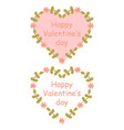 colorful floral hearts vector image