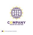 company name logo design for world globe seo vector image vector image