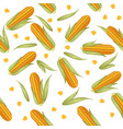 corn combs with lettuce leaves seamless pattern vector image vector image