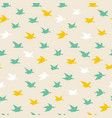 crane birds seamless pattern with birds vector image vector image